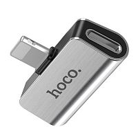 Переходник Hoco LS24 для IPhone 7 на наушники и USB iPhone 7 silver