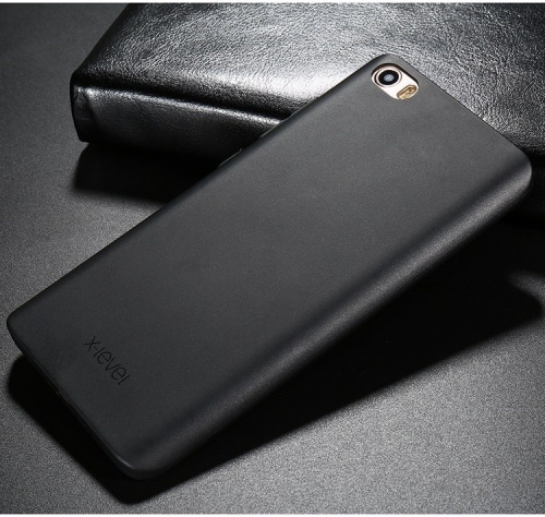 Задняя накладка X-Level для iphone 4 (Guardian series силикон) black